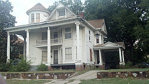 """Governor's Mansion (Shawnee, Oklahoma) - """"Governor's Mansion"""" in Shawnee September 26, 2012. Courtesy JDessary"""
