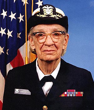 English: Commodore Grace M. Hopper, USNR Offic...