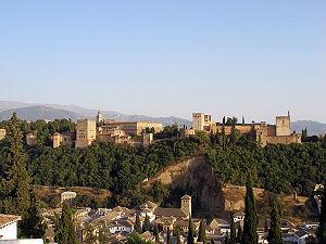 Vista a la Alhambra desde el Albaicín