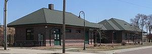 National Register of Historic Places listings in Hall County, Nebraska - Image: Grand Island, Nebraska Burlington depot from NW 1