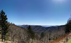 Panorama der Berglandschaft im Great-Smoky-Mountains-Nationalpark