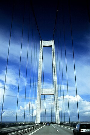 Transport in Denmark - The Great Belt Fixed Link connecting the islands of Zealand and Funen across the Great Belt was opened in 1997