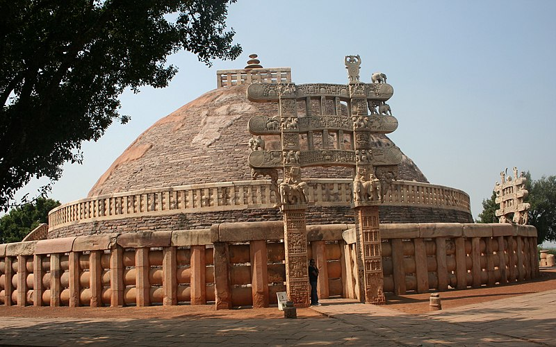 File:Great stupa of Sanchi.jpg
