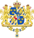 Greater coat of arms of Sweden (without ermine mantling).svg