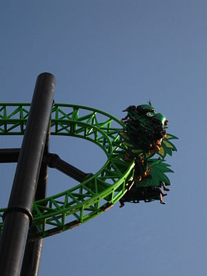 4th Dimension roller coaster - Image: Green Lantern First Flight (Six Flags Magic Mountain)