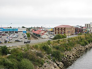 Panorama of Greymouth, New Zealand.
