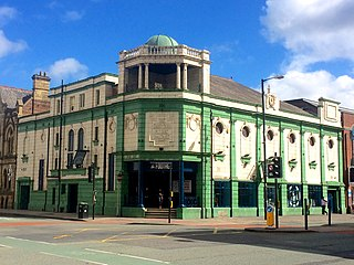 Grosvenor Picture Palace former cinema in Chorlton-on-Medlock, Manchester, United Kingdom, now a pub