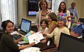 Group of children drop off a copy of the Lorax at Senator Harris' office and ask her to fight for the Paris Agreement.jpg