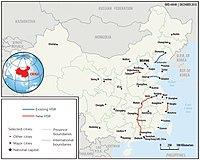 china g train map High Speed Rail In China Wikipedia china g train map