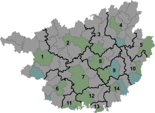 Jiangnan District District in Guangxi, Peoples Republic of China