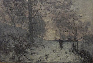 The snow, evening