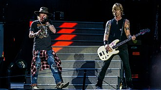 Duff McKagan - McKagan and Axl Rose during the Not In This Lifetime... Tour in 2017.