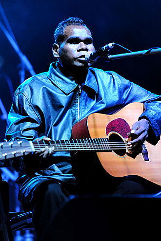 Geoffrey Gurrumul Yunupingu - Gurrumul playing at the West Coast Blues & Roots Festival (2011)
