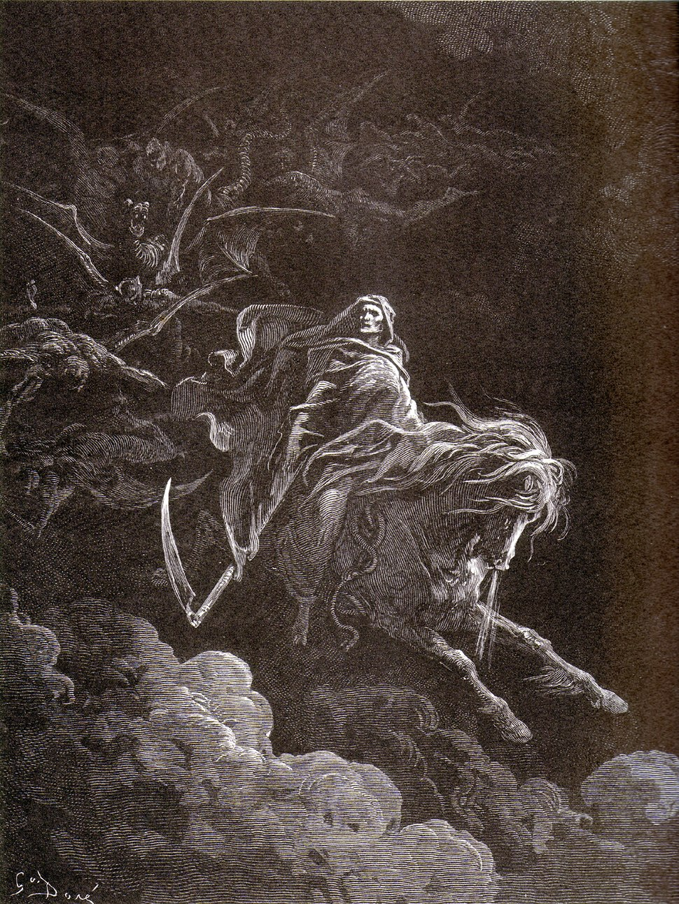 Gustave Doré - Death on the Pale Horse (1865)