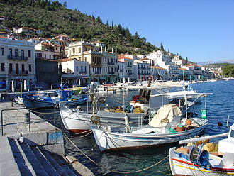 Mani Peninsula - The port of the city of Gytheio.