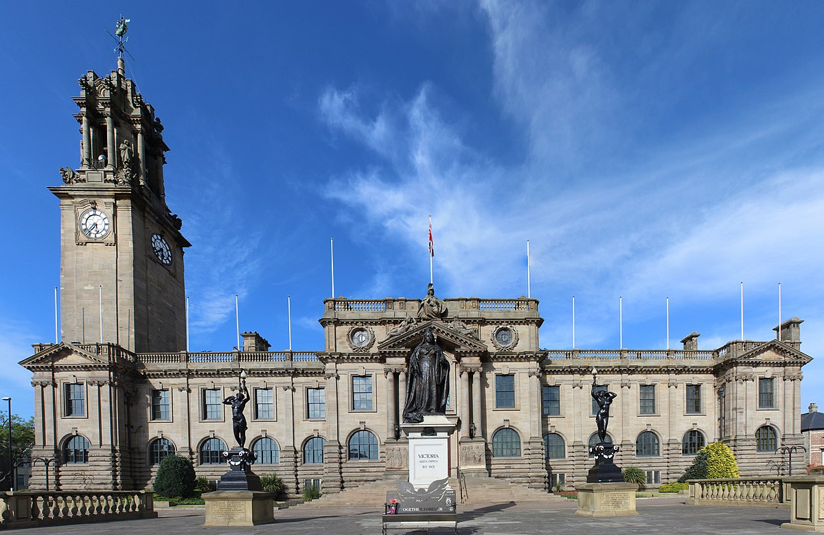 South Shields Town Hall, headquarters of South Tyneside Council