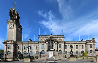 South Shields - The Edwardian Town Hall, built at a time of industrial self-confidence