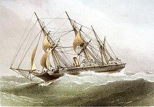 HMS Wild Swan (1876) - Image: H.M.S. Wild Swan RMG PU6269