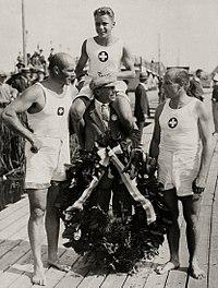 H. Schochlin, H. Bourguin, K. Schochlin 1928.jpg