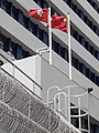 HK 荃灣 Tsuen Wan 荃景圍 Tsuen King Circuit 荃灣警署 Tsuen Wan Police Station flagpoles January 2021 SS2 07.jpg