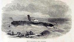HMS Hecla (1839) sinking off Gibraltar.jpg