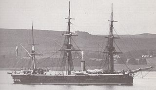 HMS <i>Shannon</i> (1875) ironclad screw frigate intended to operate largely under sail far from friendly ports, was the first British armoured cruiser; launched in 1875 and sold for scrapping in 1899