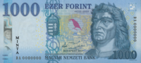 Az 1000 forintos bankjegy Mátyás király (utólagos) arcképével
