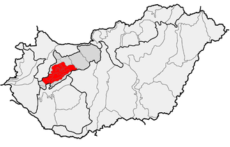 Bakony - Location of Bakony within physical subdivisions of Hungary
