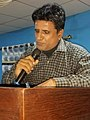 Habib Sajid poet and writer delivering speech in program Khairpur literature festival by culture department Sindh.jpg