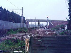 Trent Valley line - Image: Hademore Bridge 2007 01 07