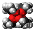 Hafnium acetylacetonate complex spacefill.png