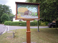 Hainford village sign, 01 08 2010.JPG