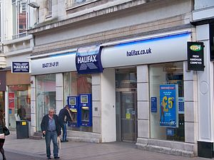 The Halifax bank on Commercial Street in Leeds...