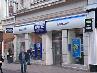 Retail banking - A retail bank in Leeds, United Kingdom.