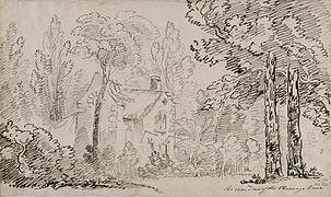 Hameau de la reine - La Maison du Garde - 1802 - John-Claude Nattes.jpg