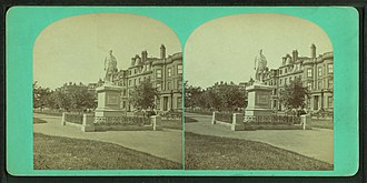 Commonwealth Avenue (Boston) - Image: Hamilton statue, Commonwealth Avenue, Boston, from Robert N. Dennis collection of stereoscopic views