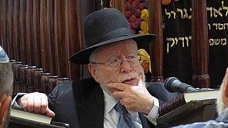 Dov Lior - Rabbi Dov Lior at Beit HaRav, Jerusalem