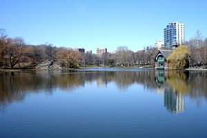 Harlem Meer - The Harlem Meer and Dana Discovery Center (far shore)