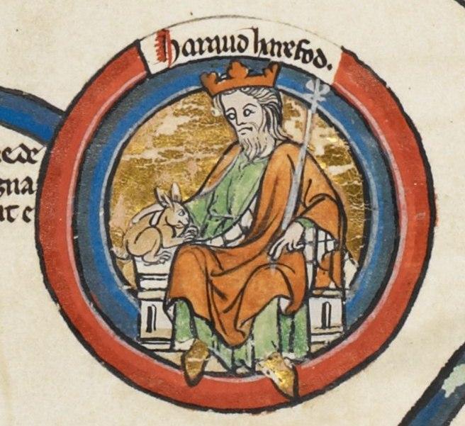 Harold Harefoot - MS Royal 14 B VI