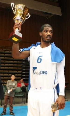 BC Levski Sofia - Aaron Harper with the 2010 Balkan League trophy