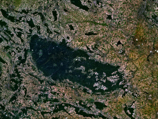 Harz: Satellitenbild