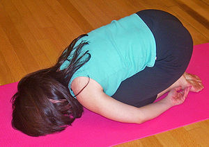 Balasana pose in Hatha yoga, commonly known as...