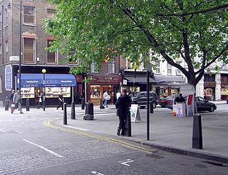 Hatton Garden Street and area in London, England