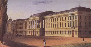 TU Wien - The main building of TU Wien at the Karlsplatz in 1825