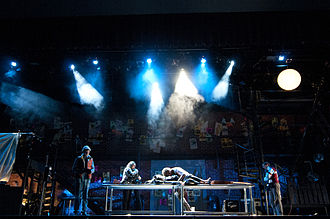 Haze machine - Haze can reveal beams of light from stage lighting instruments without obscuring the view of actors onstage.