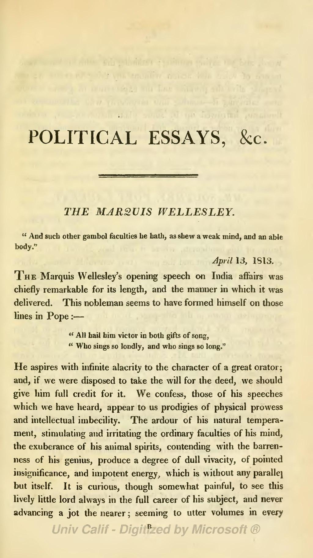 hazlitt essay on William hazlitt was born on april 10, 1778, and died a hundred years ago on  september 18, 1830 his father, the rev william hazlitt, was a unitarian minister, .