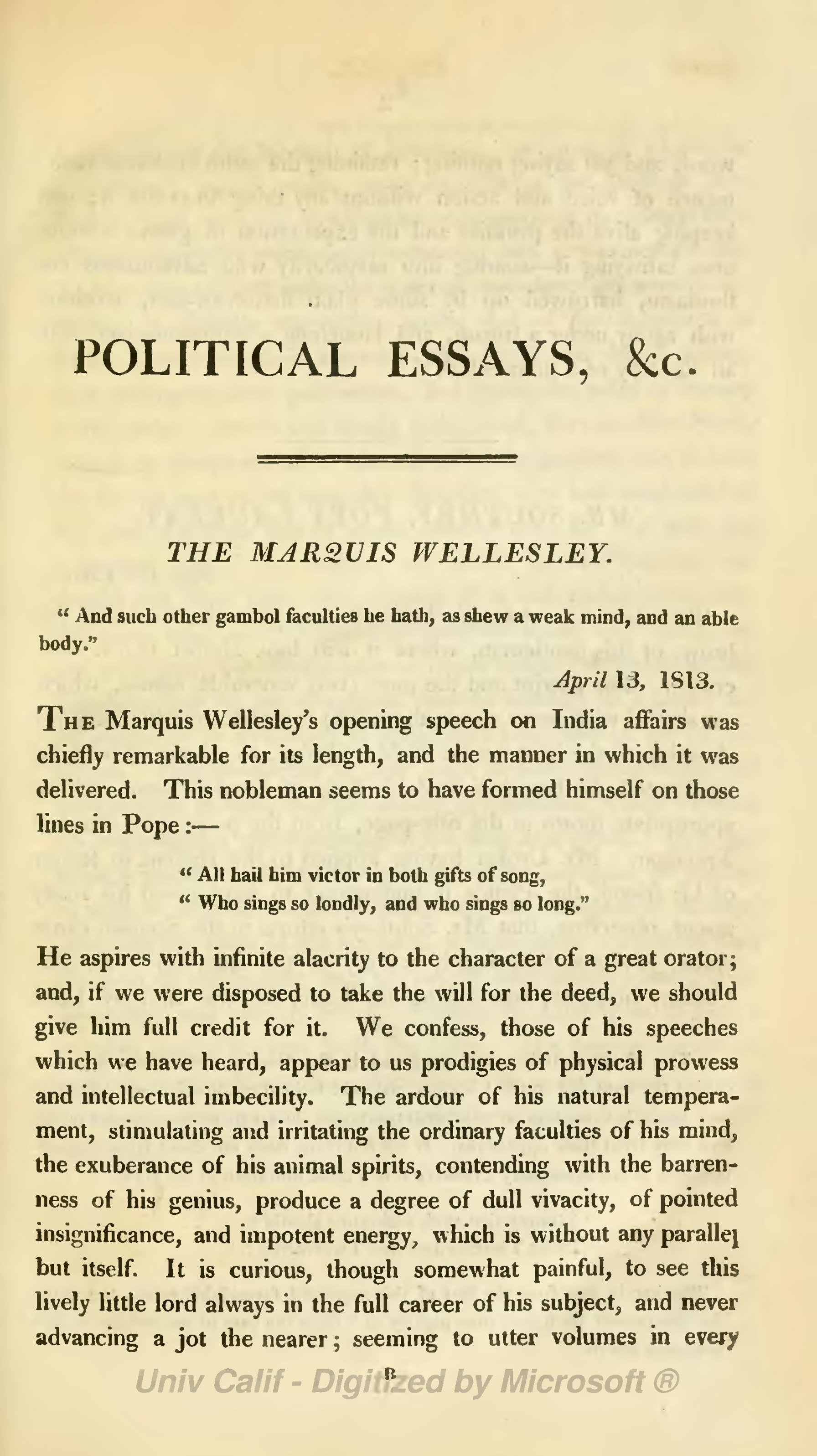 hazlitt - political essays Hazlitt, william, 1778-1830: political essays : with sketches of public characters twenty-two essays of william hazlitt, (boston, new york, d c heath.