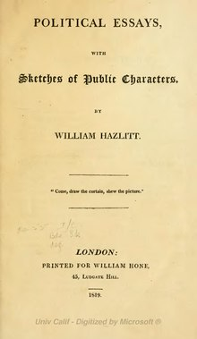 index hazlitt political essays djvu wikisource the  hazlitt political essays 1819 djvu