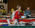 Heather Schiavo packs cookies at Misawa Air Base, Japan, Dec. 11, 2013 131211-N-DP652-046.jpg