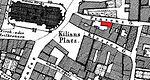Heilbronn Stadtplan 1834, Ausschnitt mit Kaiserstraße 42 und 44.jpg